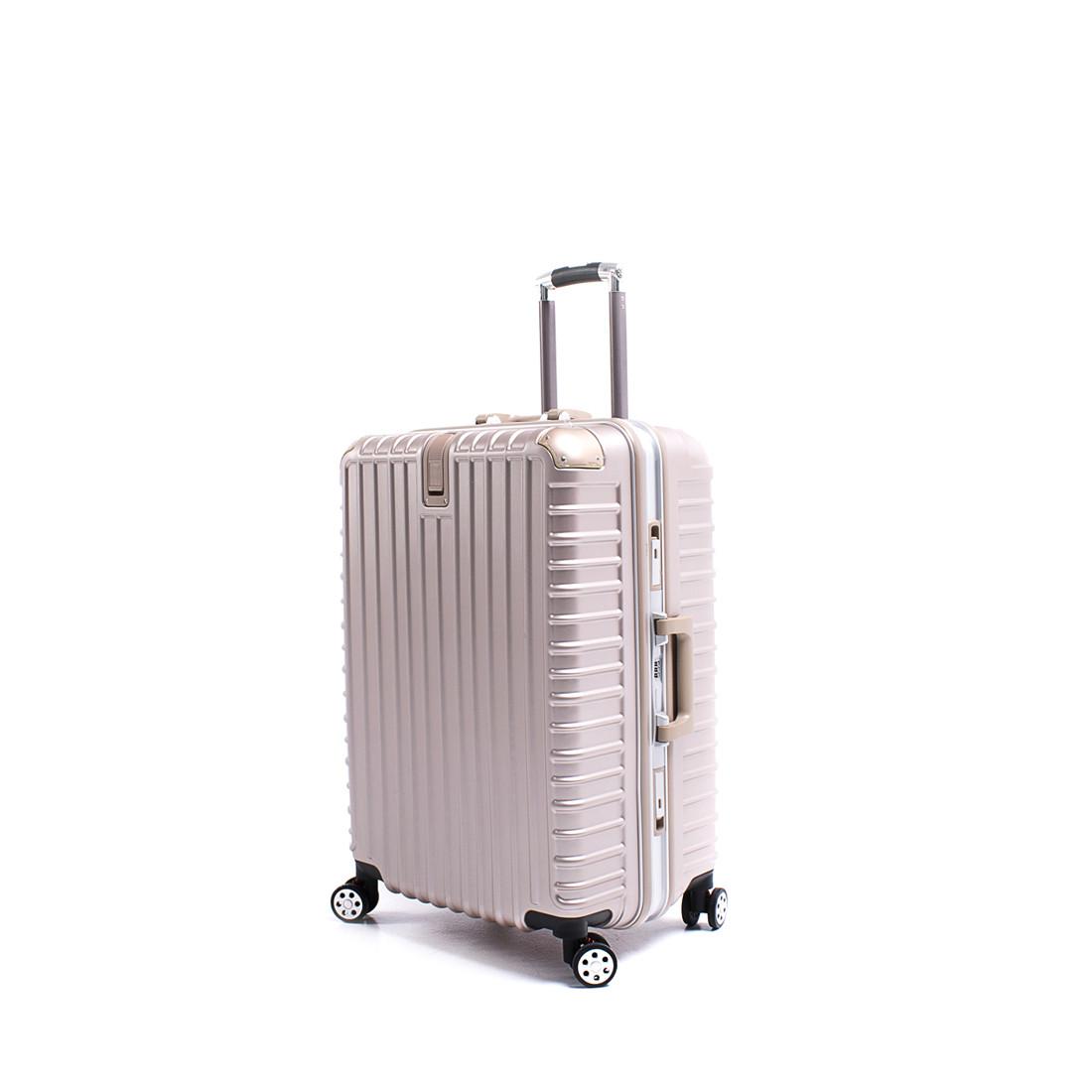 Чемодан BagHouse 4 колеса пластиковый 39х55х27 цвет розовая карамель кс801мш
