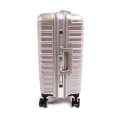 Чемодан BagHouse 4 колеса пластиковый 39х55х27 цвет розовая карамель кс801мш, фото 2