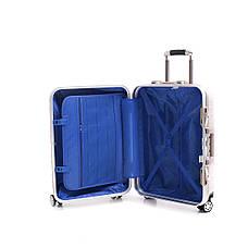 Чемодан BagHouse 4 колеса пластиковый 39х55х27 цвет розовая карамель кс801мш, фото 3