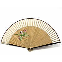 Складной веер бамбук с шелком