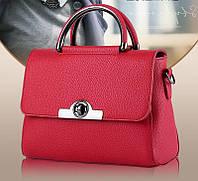 Новинка! Небольшая женская сумка через плечо. Красная КС83-2, фото 1