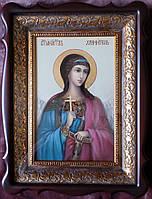 Икона писаная в киоте Святой Ангел Хранитель