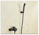 Смеситель для ванной комнаты черный 2-054, фото 2
