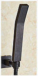 Смеситель для ванной комнаты черный 2-054, фото 3