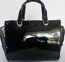 Роскошная женская сумочка из натуральной кожи и замши