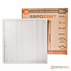 Светильник светодиодная панель ЕВРОСВЕТ 36Вт PRISMATIC LED-SH-595-20 4000K - 6000К 3000Лм