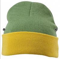 Вязаная шапка с отворотом комбинированная 7550-7-В959  Myrtle Beach