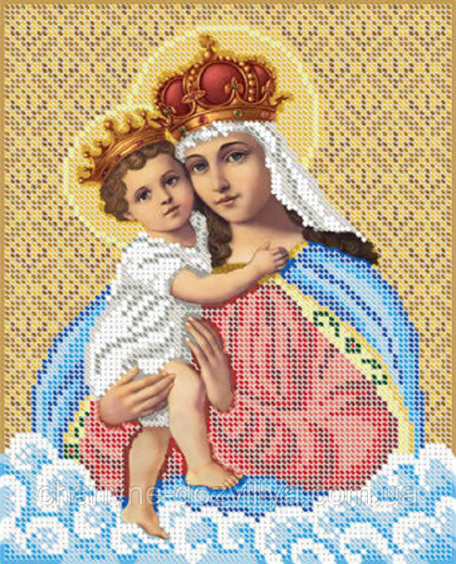 """Схема для вышивки бисером икона """"Богородица с младенцем"""""""