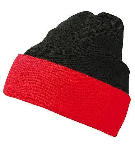 Вязаная шапка с отворотом комбинированная 7550-1-В960  Myrtle Beach