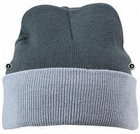 Вязаная шапка с отворотом комбинированная 7550-2-В961  Myrtle Beach