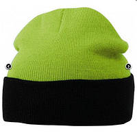 Вязаная шапка с отворотом комбинированная 7550-3-В962  Myrtle Beach