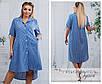 Платье-рубашка свободного фасона полоска софт 48,50,52,54, фото 3