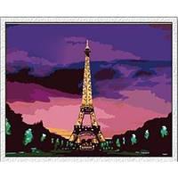 "Картина по номерам ""Эйфелева башня в сумерках"" 40х50 см."
