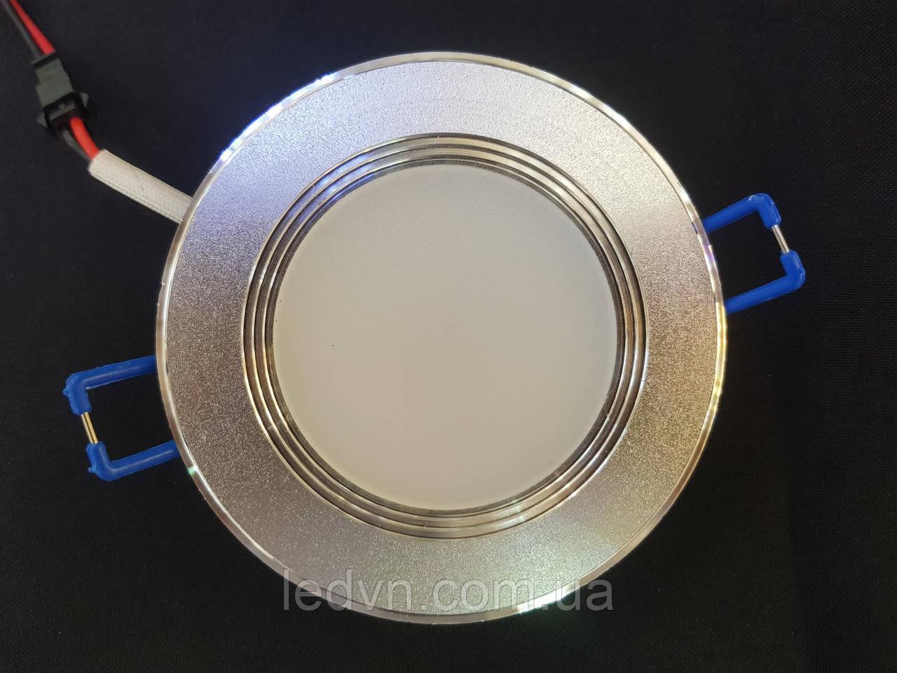 Декоративный врезной точечный светильник 5w