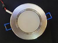 Декоративний врізний точковий світильник 5w, фото 1