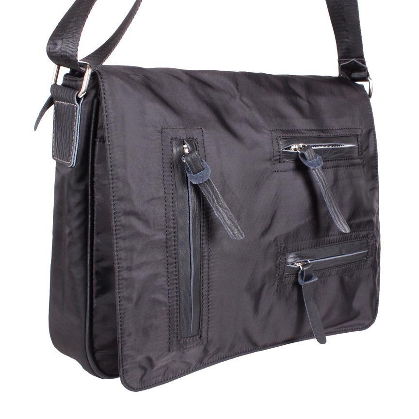 Мужская кожаная сумка 305744 черная