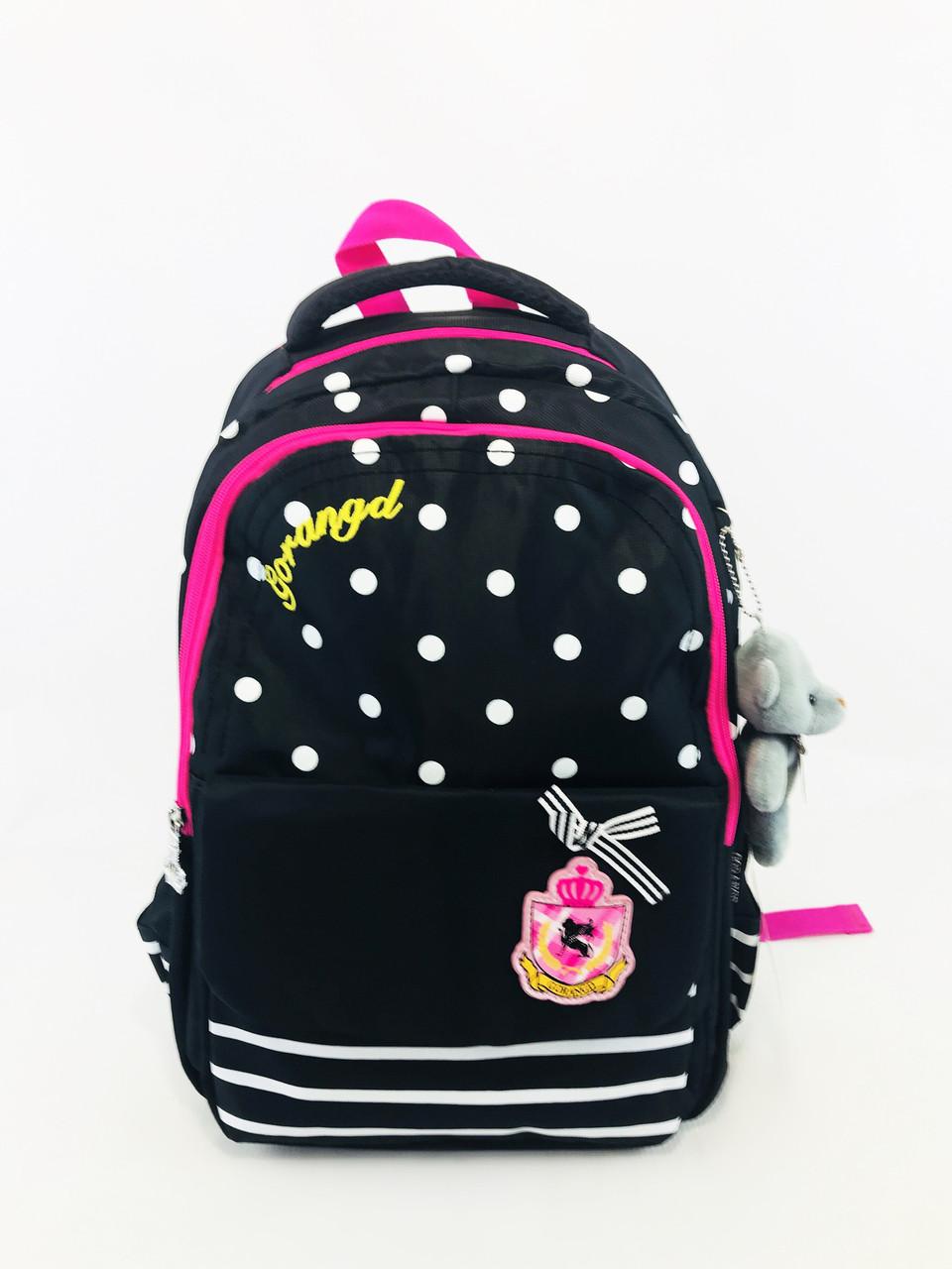 Школьный рюкзак для девочки в расцветках, фото 1