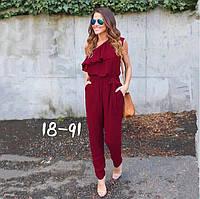 Комбинезон женский с брюками на одно плечо в расцветках 2044, фото 1