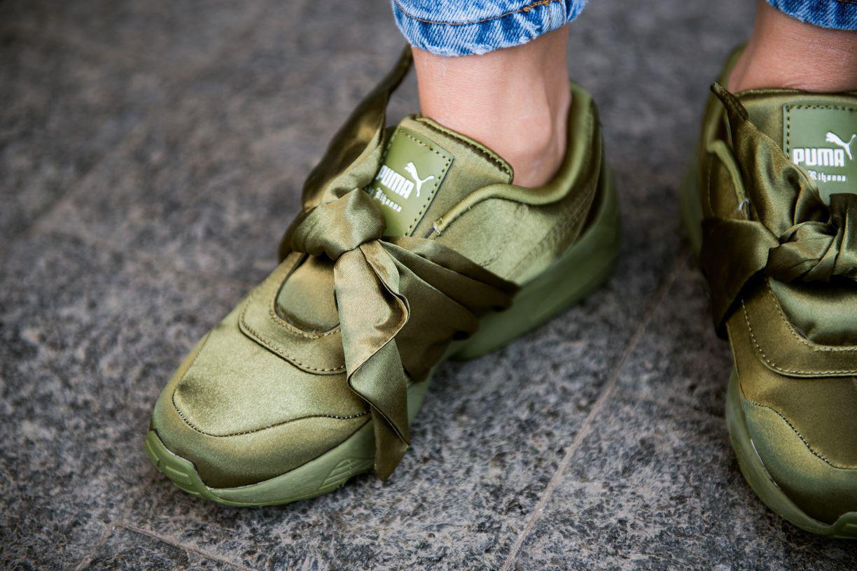 wholesale dealer f679e 4d746 Puma х Fenty by Rihanna Bow Sneaker Olive / Branch | женские кроссовки;  оливковые - Bigl.ua