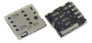 Коннектор sim Asus ZenFone 6 (1 sim)
