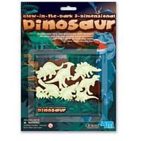 Объёмные динозавры, светящиеся в темноте
