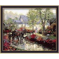 """Картина по номерам """"Весенняя улица"""" 40х50 см."""