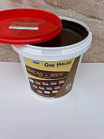 Масло воск  для дерева на основе льняного масла цвет Палисандр, 1 л