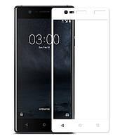 Защитное стекло Nokia 3 (0.3 мм, 2.5D, с олеофобным покрытием) white
