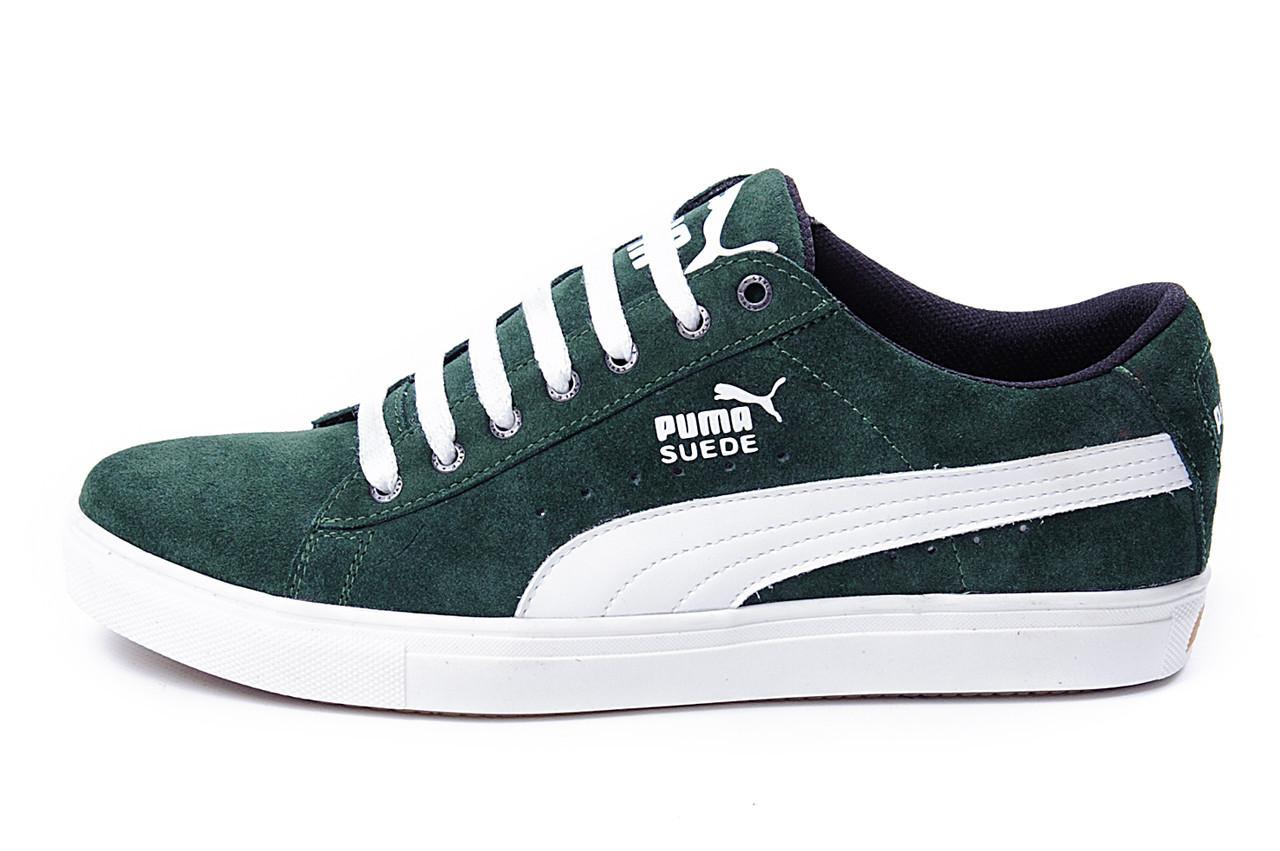 6cbb08eeb352 Мужские кожаные кеды Puma SUEDE Green - Универсал.UA (https   universal
