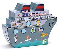 Игра настольная детская деревянная - тактика Морской бой