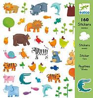 Набор наклеек 160 штук Животные