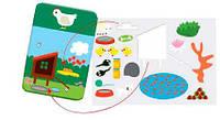 Наклейки бумажные с рисунком  Животные ( 30 карт + 80 стикеров)