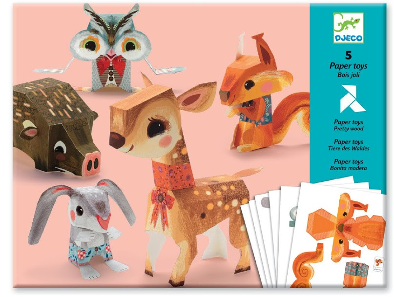 Художественный комплект - оригами Лесные животные - Интернет-магазин Игрушки в Киеве