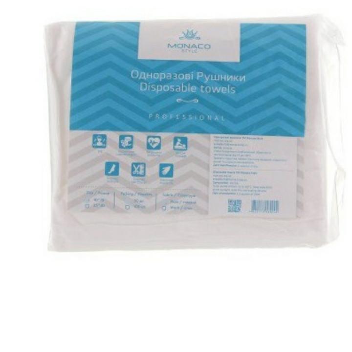 Одноразовые полотенца Monaco Style,  35*40, нарезаные, гладкие (50 шт)