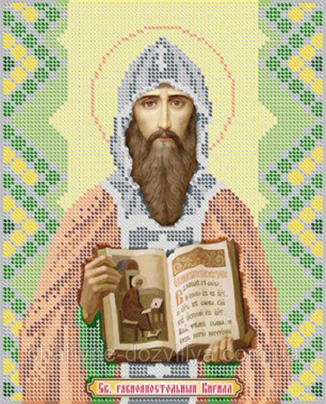 """Схема для вышивки бисером именная икона """"Святой Кирилл"""""""