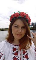 """Обруч-венок для волос """"Розы"""", фото 1"""