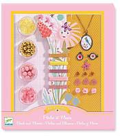 Художественный ювелирный набор Цветы и жемчуг