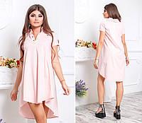 Платье - рубашка ассиметрия  в расцветках   2052, фото 1