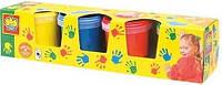 Пальчиковые краски МОИ ПЕРВЫЕ РИСУНКИ (4 цвета в пластиковых баночках)