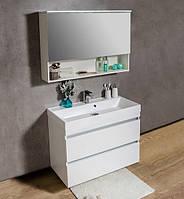 Комплект мебели для ванной 100 см с зеркальным шкафчиком Sherman Fancy Marble