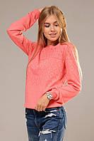 Осенние женские свитера ажурная вязка модные