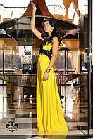 """Вечернее платье в пол """"Кассандра""""- желтый (без шлейфа), фото 1"""
