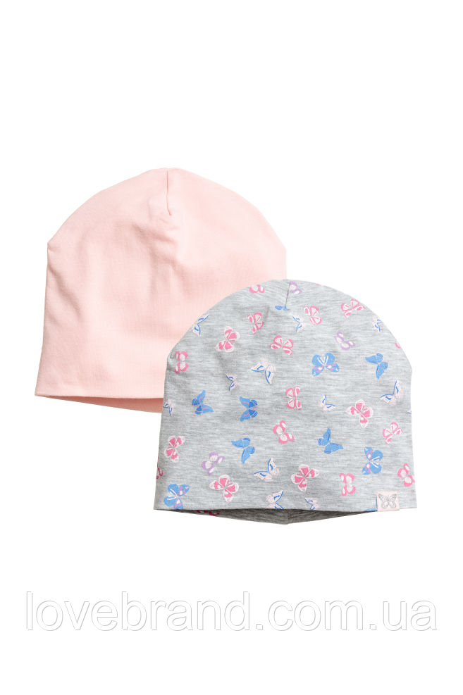 Набор с 2-х шапочек на девочку H&M 8-12 л./53-55 см