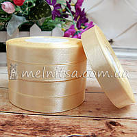 Атласная лента 1,2 см, №2 кремовый, рулон 23 м