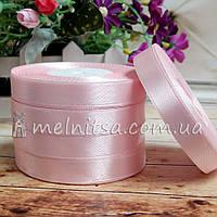 Атласная лента 1,2 см, №4 светло-розовый, рулон 23 м