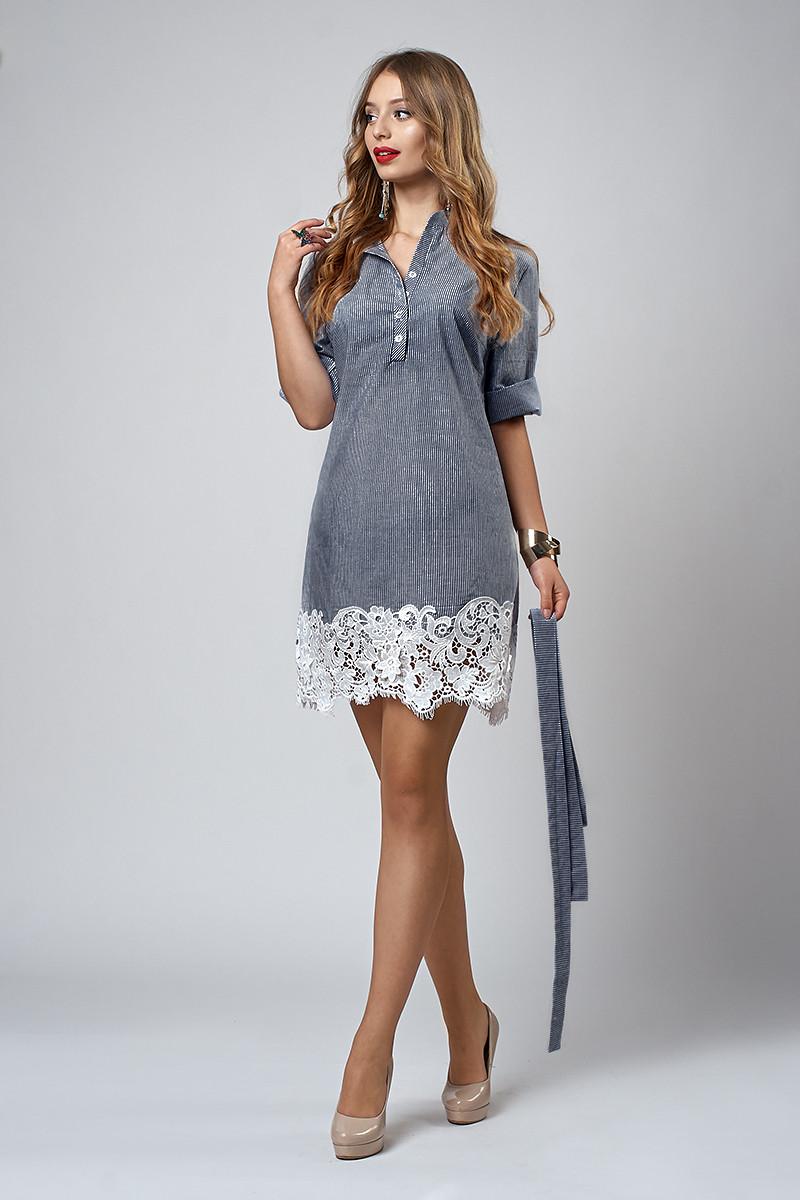 Платье мод №557-5, размеры 42,44,46,48 черная полоска