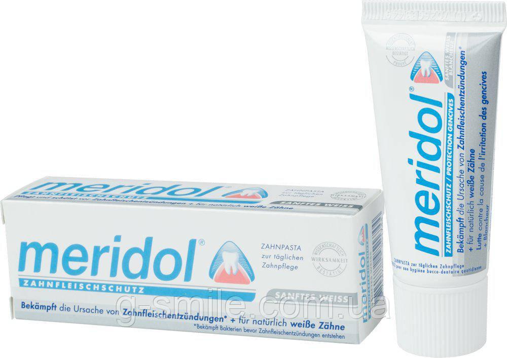 Зубная паста Meridol SANFTES WEISS Zahnpasta отбеливающий ефект, 20 мл