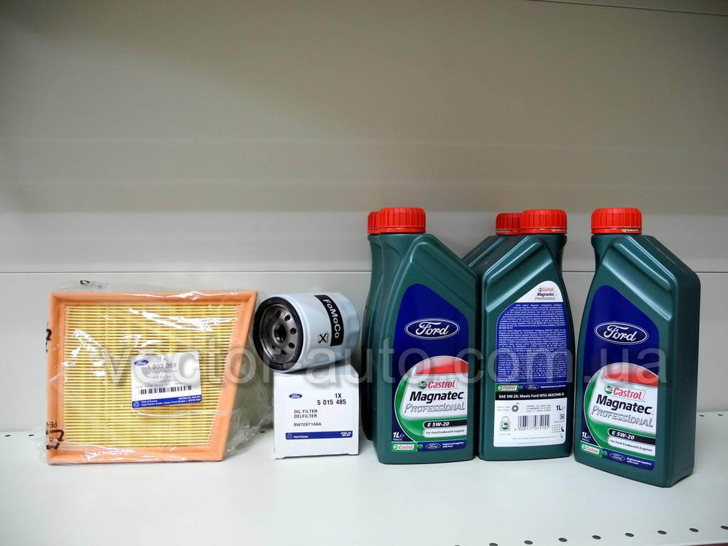 Набор запчастей для ТО автомобиля Ford Fiesta 2012- 1.0L EcoBoost 100PS (замена моторного масла, воздушного и масляного фильтров)