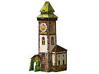 Игровой набор - Сборная модель из картона Башня с часами с героями, серии Средневековый город