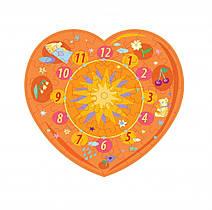 Пазл – часы Оранжевое сердце 61 эл.